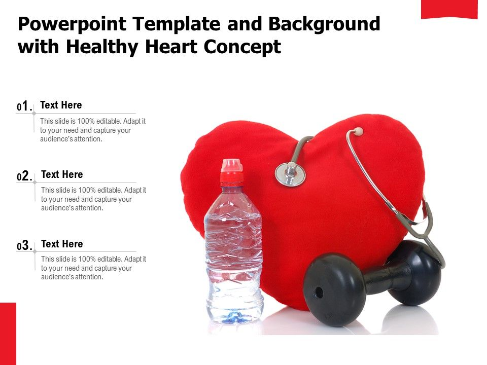 Powerpoint Template And Background With Healthy Heart Concept Presentation Graphics Presentation Powerpoint Example Slide Templates
