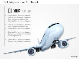 0115 3D Airplane For Air Travel Image Graphics For Powerpoint