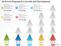 0115 3d Arrow Diagram For Growth And Development Powerpoint Template