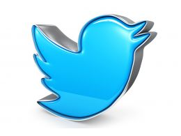 0115 3d Blue Tweet Bird Graphic Stock Photo