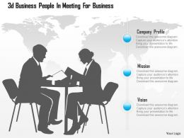 0115 3d Business People In Meeting For Business Powerpoint Template