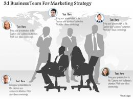0115 3d Business Team For Marketing Strategy Powerpoint Template