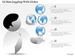0115 3d Man Juggling With Globes Powerpoint Template