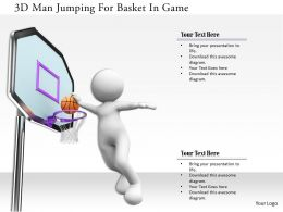 0115 3d Man Jumping For Basket In Game Ppt Graphics Icons