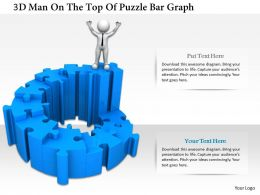 0115 3d Man On The Top Of Puzzle Bar Graph Ppt Graphics Icons
