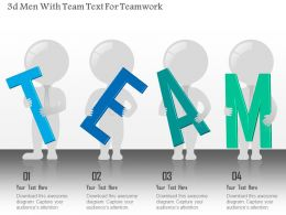 0115 3d Men With Team Text For Teamwork Powerpoint Template