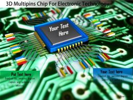 0115 3D Multipins Chip For Electronic Technology Image Graphics For Powerpoint