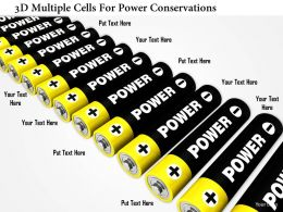 0115 3d Multiple Cells For Power Conservations Image Graphic For Powerpoint