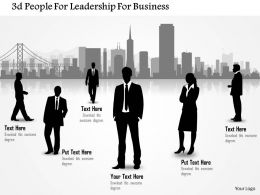 0115 3d People For Leadership For Business Powerpoint Template