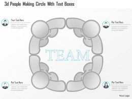 0115 3d People Making Circle With Text Boxes Powerpoint Template