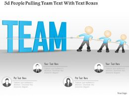 0115 3d People Pulling Team Text With Text Boxes Powerpoint Template