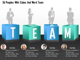 0115 3d Peoples With Cubes And Word Team Powerpoint Template
