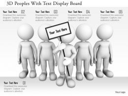 0115 3d Peoples With Text Display Board Ppt Graphics Icons