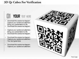 0115 3D Qr Cubes For Verification Image Graphics For Powerpoint