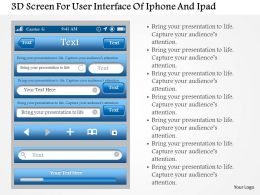 0115 3d Screen For User Interface Of Iphone And Ipad Powerpoint Template