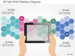 0115 3d Tab With Timeline Diagram Powerpoint Template
