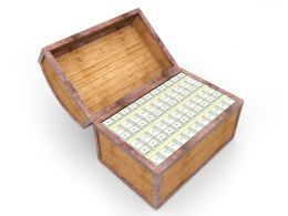 0115 3d Treasure Chest For Finance Stock Photo