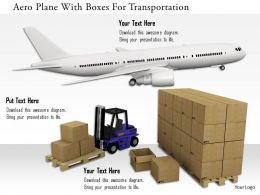 0115 Aero Plane With Boxes For Transportation Image Graphics For Powerpoint