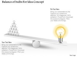 0115 Balance Of Bulbs For Idea Concept Powerpoint Template