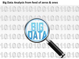 0115 Big Data Analysis From Feed Of Zeros And Ones 0s And 1s Magnifying Glass Ppt Slide