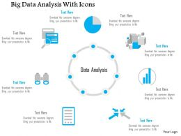 0115 Big Data Analysis With Icons Of Different Sources Suurrounding Text Ppt Slide