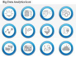 0115 Big Data Icon Set Data Analytics Icon Set Cloud Computing Networking Funnel Ppt Slide