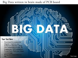 0115 Big Data Written In Brain Made Of Pcb Board Ppt Slide