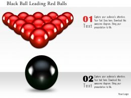 0115 Black Ball Leading Red Balls Image Graphics For Powerpoint
