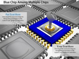 0115 Blue Chip Among Multiple Chips Image Graphics For Powerpoint