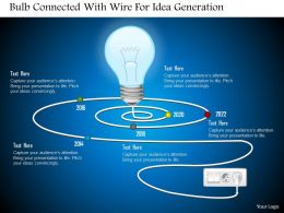 0115 Bulb Connected With Wire For Idea Generation Powerpoint Template