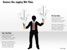 0115 Business Man Juggling With Plates Powerpoint Template