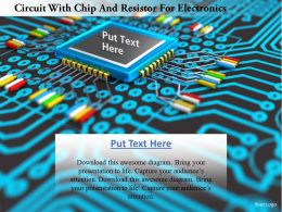 0115 Circuit With Chip And Resistor For Electronics Image Graphics For Powerpoint