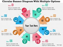 0115 Circular Banner Diagram With Multiple Options PowerPoint Template