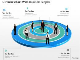 0115 Circular Chart With Business Peoples Powerpoint Template