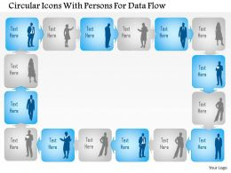 0115 Circular Icons With Persons For Data Flow Powerpoint Template