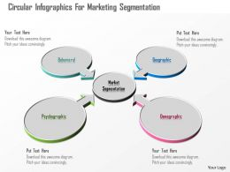 0115 Circular Infographics For Marketing Segmentation Powerpoint Template