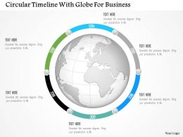 0115 Circular Timeline With Globe For Business Powerpoint Template