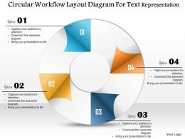 0115 Circular Workflow Layout Diagram For Text Representation Powerpoint Template