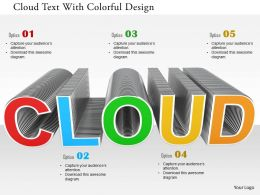 0115 Cloud Text With Colorful Design Image Graphic For Powerpoint