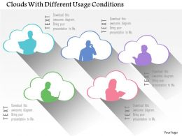 0115 Clouds With Different Usage Conditions Powerpoint Template
