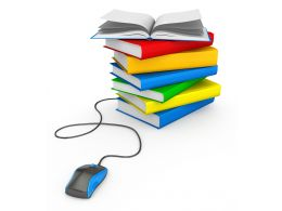 0115 Colored Books And Mouse For Education Stock Photo
