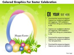 0115 Colored Graphics For Easter Celebration Powerpoint Template