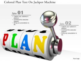 0115 Colored Plan Text On Jackpot Machine Image Graphics For Powerpoint