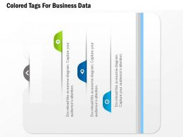 0115 Colored Tags For Business Data Powerpoint Template