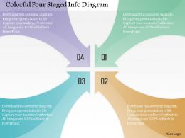 0115 Colorful Four Staged Info Diagram Powerpoint Template