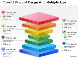 0115 Colorful Pyramid Design With Multiple Apps PowerPoint Template