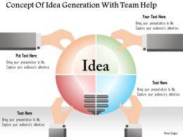 0115 Concept Of Idea Generation With Team Help Powerpoint Template