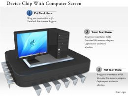 0115 Device Chip With Computer Screen Image Graphics For Powerpoint