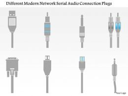 0115 Different Modern Network Serial Audio Connection Plugs Ppt Slide