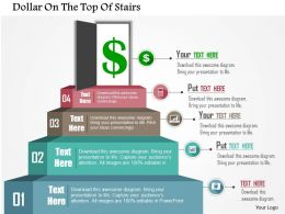 0115 Dollar On The Top Of Stairs Powerpoint Template
